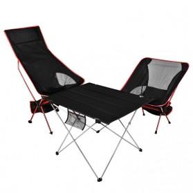 JOCESTYLE Kursi Lipat Memancing Portable Collapsible Folding Fishing Chair High Design - SF733 - Blue - 2