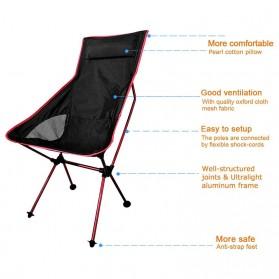JOCESTYLE Kursi Lipat Memancing Portable Collapsible Folding Fishing Chair High Design - SF733 - Blue - 7