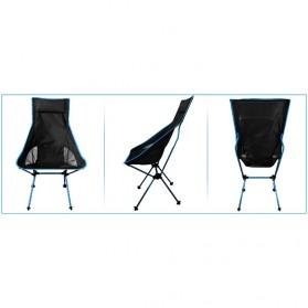 JOCESTYLE Kursi Lipat Memancing Portable Collapsible Folding Fishing Chair High Design - SF733 - Blue - 8
