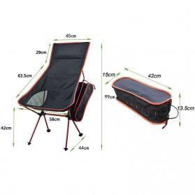 JOCESTYLE Kursi Lipat Memancing Portable Collapsible Folding Fishing Chair High Design - SF733 - Blue - 12
