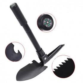 Pacul Sekop Lipat Militer Portable Survival Tools dengan Kompas - PHMDSH11 - Black