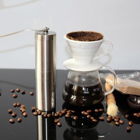 Alat Penggiling Kopi Coffee Bean Grinder Stainless Steel - E805 - Silver - 8