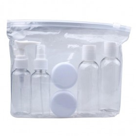 MUQGEW Botol Travel Size Liquid Bottle Pack 7 PCS - SV1 - White