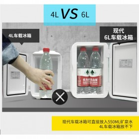 Hyundai Kulkas Mobil Mini Home Dual Use Cooler Warmer Portable Refrigerator 6L - HD-6L - Blue - 4