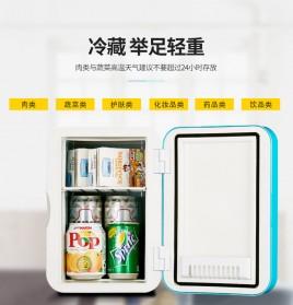 Hyundai Kulkas Mobil Mini Home Dual Use Cooler Warmer Portable Refrigerator 6L - HD-6L - Blue - 5