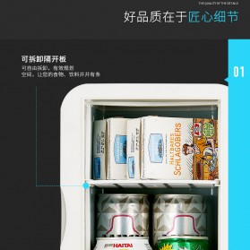Hyundai Kulkas Mobil Mini Home Dual Use Cooler Warmer Portable Refrigerator 6L - HD-6L - Blue - 6