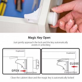 KOOLBOY Kunci Laci Lemari Magnetic Safety Kids Drawer 10 Lock 2 Key - LK-002-KB - White - 5