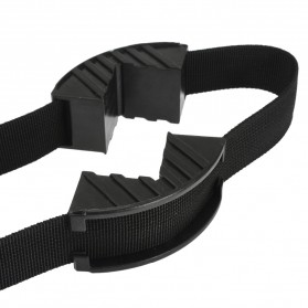 Mayitr Alat Penjepit Bingkai Kayu Adjustable Rapid Corner Clamp Strap Band 4 Jaws - PHO-0CKO - Black - 5