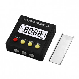JIGONG Alat Ukur Sudut Kemiringan Digital Protractor Inclinometer Level with Magnetics Angle Measuring - JIG-RT001 - Black - 4
