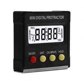 JIGONG Alat Ukur Sudut Kemiringan Digital Protractor Inclinometer Level with Magnetics Angle Measuring - JIG-RT001 - Black - 6