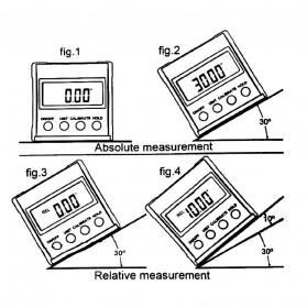 JIGONG Alat Ukur Sudut Kemiringan Digital Protractor Inclinometer Level with Magnetics Angle Measuring - JIG-RT001 - Black - 7