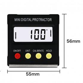 JIGONG Alat Ukur Sudut Kemiringan Digital Protractor Inclinometer Level with Magnetics Angle Measuring - JIG-RT001 - Black - 9
