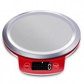 VKTECH Timbangan Dapur Mini Digital Platform Scale 5000g 1g - KS-886 - Red - 2