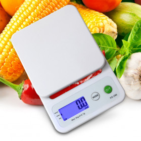 VKTECH Timbangan Dapur Mini Digital Platform Scale 3000g 0.1g - KS-286 - White