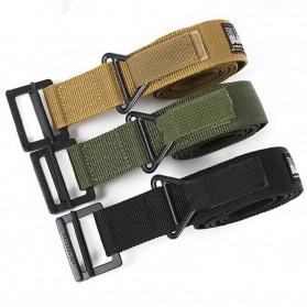 BLACKHAWK Tali Ikat Pinggang Pria Outdoor Military Tactical Belt - 23502 - Khaki - 4