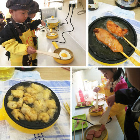 Keythemelife Panci Elektrik Pancake Egg Boiler Frying Pan - DY0543 - Yellow - 6