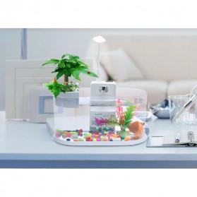 EECOO USB Desktop Aquarium Mini Fish Tank with Running Water - Lileng-921 - Black - 3