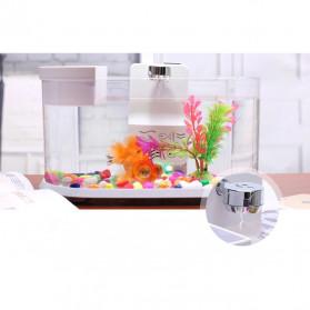 EECOO USB Desktop Aquarium Mini Fish Tank with Running Water - Lileng-921 - Black - 4