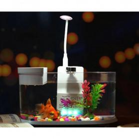 EECOO USB Desktop Aquarium Mini Fish Tank with Running Water - Lileng-921 - Black - 5