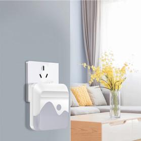 LOAMLIN Lampu LED Malam Dinding Light Sensor Cahaya EU Plug - Li1 - White