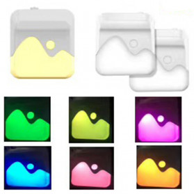LOAMLIN Lampu LED RGB Malam Dinding Night Light Sensor Cahaya EU Plug - Li1 - White
