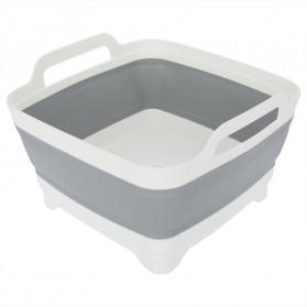 AsyPets Rak Keranjang Buah Lipat Bowl Foldable Collapsible - ST361 - Gray