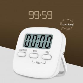 Cucina Timer Masak Dapur Magnetic Stopwatch Alarm Clock - JS-113 - White - 4