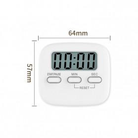 Cucina Timer Masak Dapur Magnetic Stopwatch Alarm Clock - JS-113 - White - 8