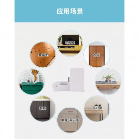 Smart Drawer Kunci Pintu Cabinet Lock Keyless Bluetooth APP Security Drawer - T1 - White - 3