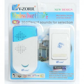 V-ZORR Bell Pintu Wireless Doorbell 32 Tunes 1 PCS Receiver - A-813 - White