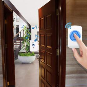 KERUI Bell Pintu Wireless Doorbell Waterproof 38 Tunes 1 Receiver - F52 - White - 2