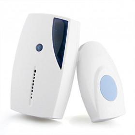 ISHOWTIENDA Bell Pintu Wireless Doorbell Waterproof 36 Tunes 1 Receiver - A118 - White - 3
