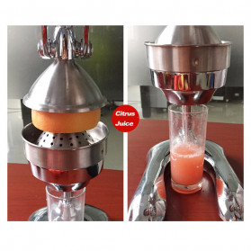 Vortex Alat Peras Jus Buah Juice Squeezer Stainless Steel - ZZJ3 - Silver - 9
