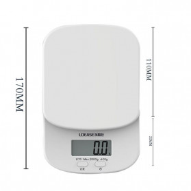 Digipounds Timbangan Dapur Mini Digital Scale 2000g 0.1g - K70a - White - 3