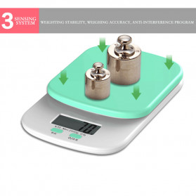 Digipounds Timbangan Dapur Mini Digital Scale 2000g 0.1g - K70a - White - 5