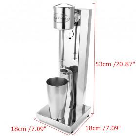 DESANJIAO Mesin Milkshake Tea Foam Stirring Maker 800ml - MS1 - Silver - 2