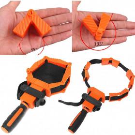 ACAMPTAR Alat Penjepit Bingkai Kayu Adjustable Rapid Corner Clamp Strap Band 4 Jaws - ACM25 - Orange - 2