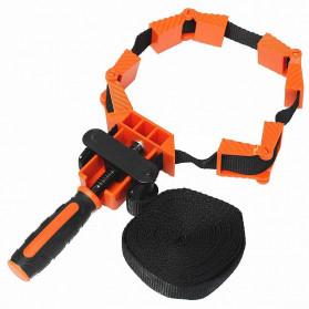 ACAMPTAR Alat Penjepit Bingkai Kayu Adjustable Rapid Corner Clamp Strap Band 4 Jaws - ACM25 - Orange - 3