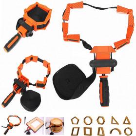 ACAMPTAR Alat Penjepit Bingkai Kayu Adjustable Rapid Corner Clamp Strap Band 4 Jaws - ACM25 - Orange - 4