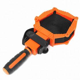 ACAMPTAR Alat Penjepit Bingkai Kayu Adjustable Rapid Corner Clamp Strap Band 4 Jaws - ACM25 - Orange - 5