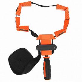 ACAMPTAR Alat Penjepit Bingkai Kayu Adjustable Rapid Corner Clamp Strap Band 4 Jaws - ACM25 - Orange - 6