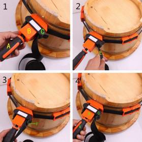 ACAMPTAR Alat Penjepit Bingkai Kayu Adjustable Rapid Corner Clamp Strap Band 4 Jaws - ACM25 - Orange - 8
