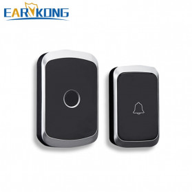EARKONG Bell Pintu Wireless Doorbell LED 36 Tunes 1 Receiver - A10 - Black
