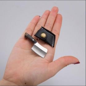 KNIFEZER Pisau Mini Cutter Letter Opener Self Defense Portable Knife Survival Tool - K13 - Black - 4