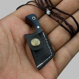 KNIFEZER Pisau Mini Cutter Letter Opener Self Defense Portable Knife Survival Tool - K13 - Black - 6