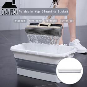 CYAN PEAK Baskom Ember Lipat Water Bucket Foldable Collapsible 10 Liter - ZD036 - Gray - 1
