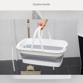 CYAN PEAK Baskom Ember Lipat Water Bucket Foldable Collapsible 10 Liter - ZD036 - Gray - 6