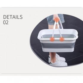 CYAN PEAK Baskom Ember Lipat Water Bucket Foldable Collapsible 10 Liter - ZD036 - Gray - 8