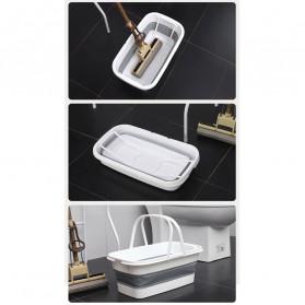 CYAN PEAK Baskom Ember Lipat Water Bucket Foldable Collapsible 10 Liter - ZD036 - Gray - 9