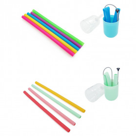 We&Me Sedotan Silicone Reusable with Case - WM7 - Mix Color - 2